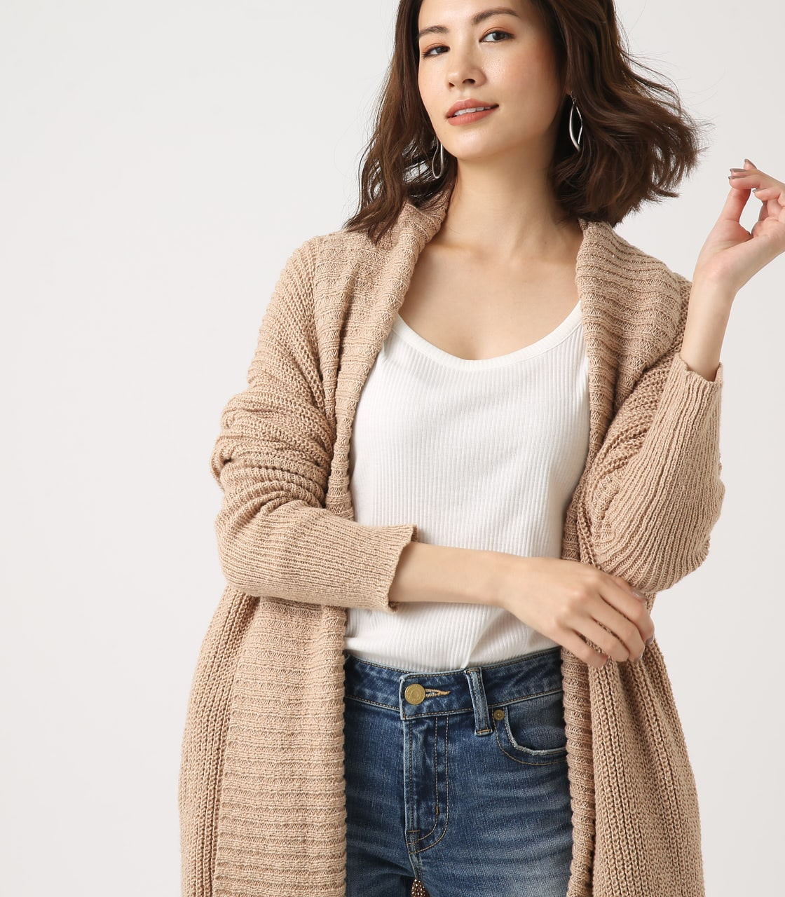 BIG SHAWL TOPPER CARDIGAN 詳細画像 BEG 2