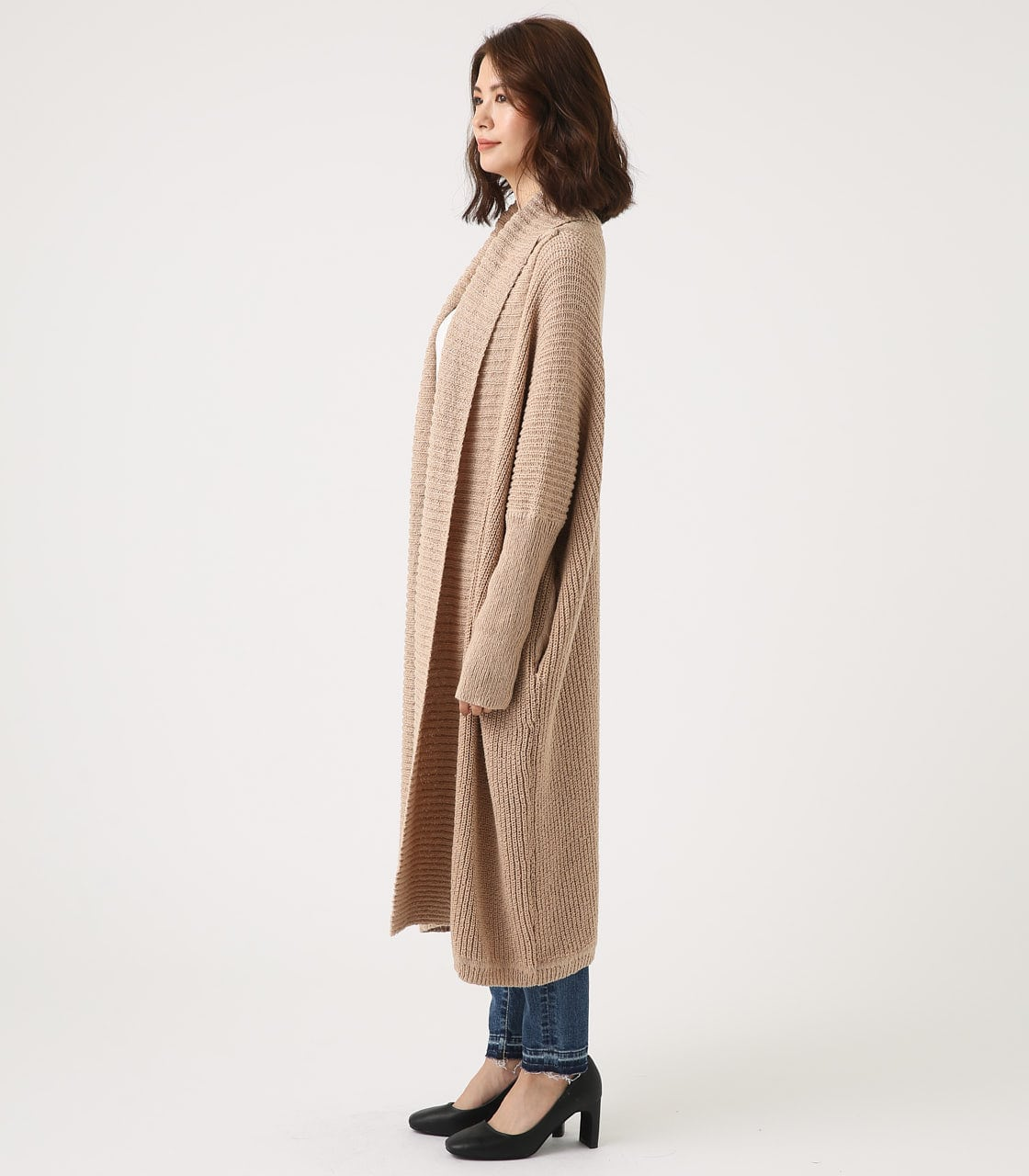 BIG SHAWL TOPPER CARDIGAN 詳細画像 BEG 6