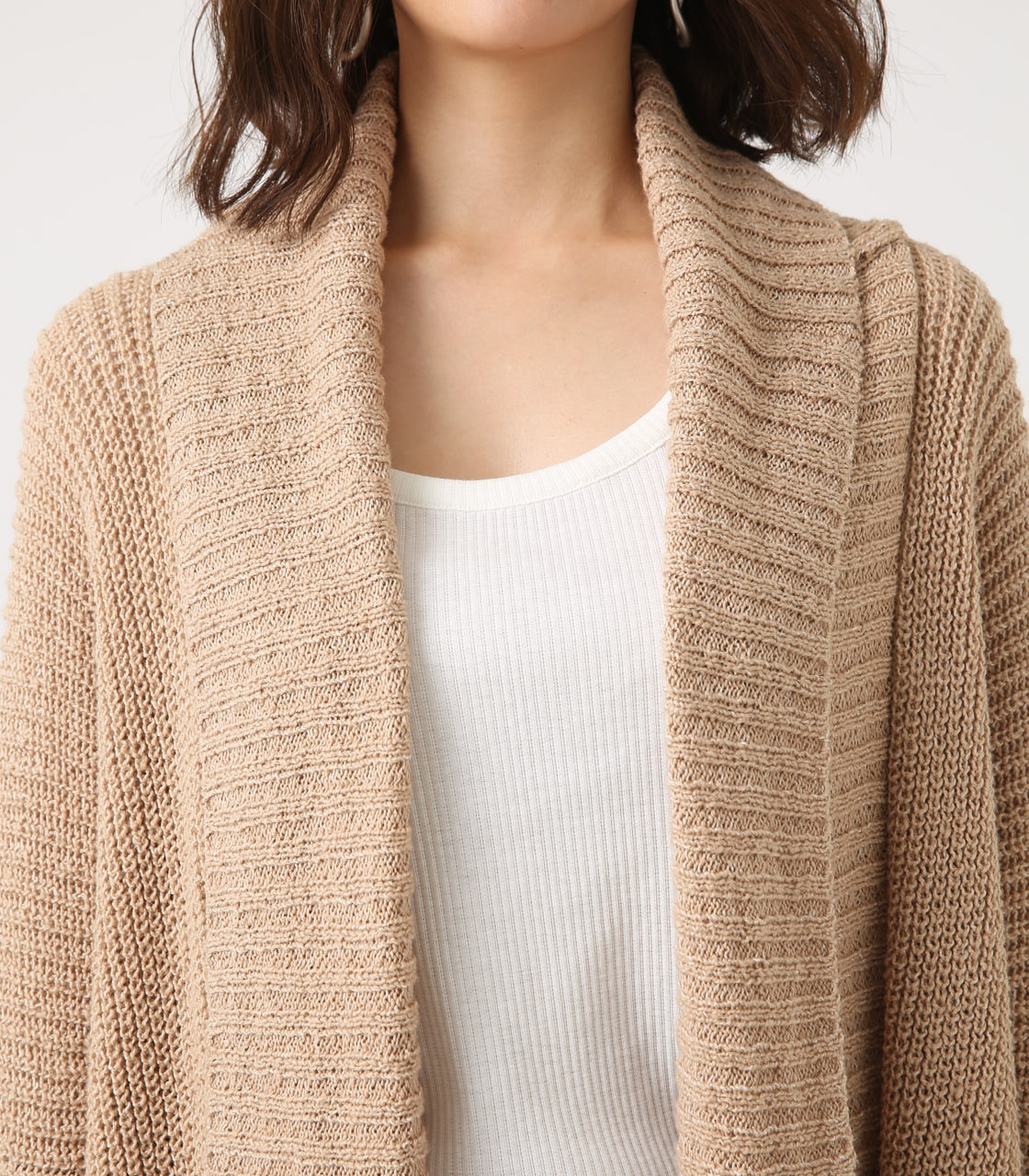 BIG SHAWL TOPPER CARDIGAN 詳細画像 BEG 8