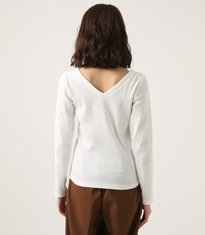 【AZUL BY MOUSSY】V NECK RIB TOPS 詳細画像