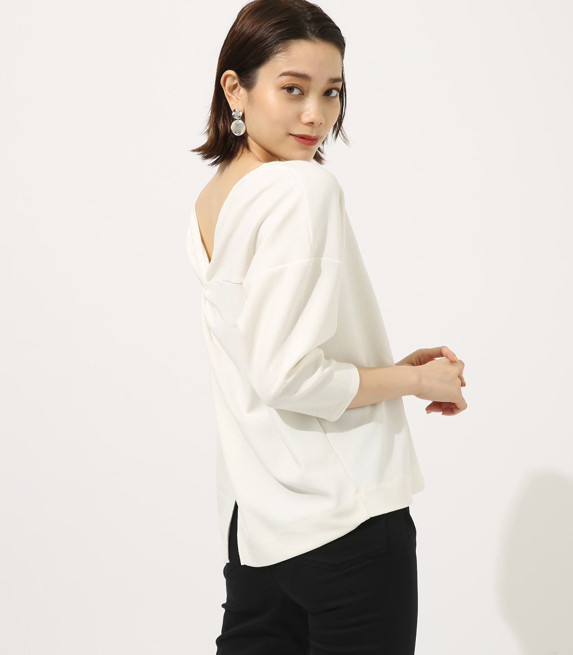 【AZUL BY MOUSSY】BACK TWIST TOPS 詳細画像 O/WHT 2