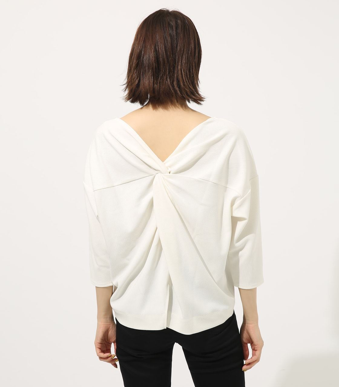 【AZUL BY MOUSSY】BACK TWIST TOPS 詳細画像 O/WHT 6