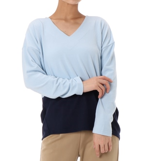 BICOLOR V NECK TOPS