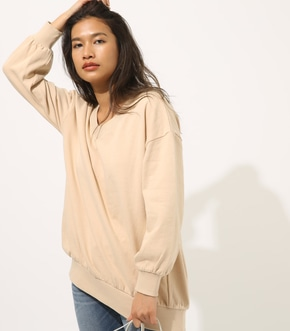 【AZUL BY MOUSSY】SWEAT Vネック LOOSE TUNIC