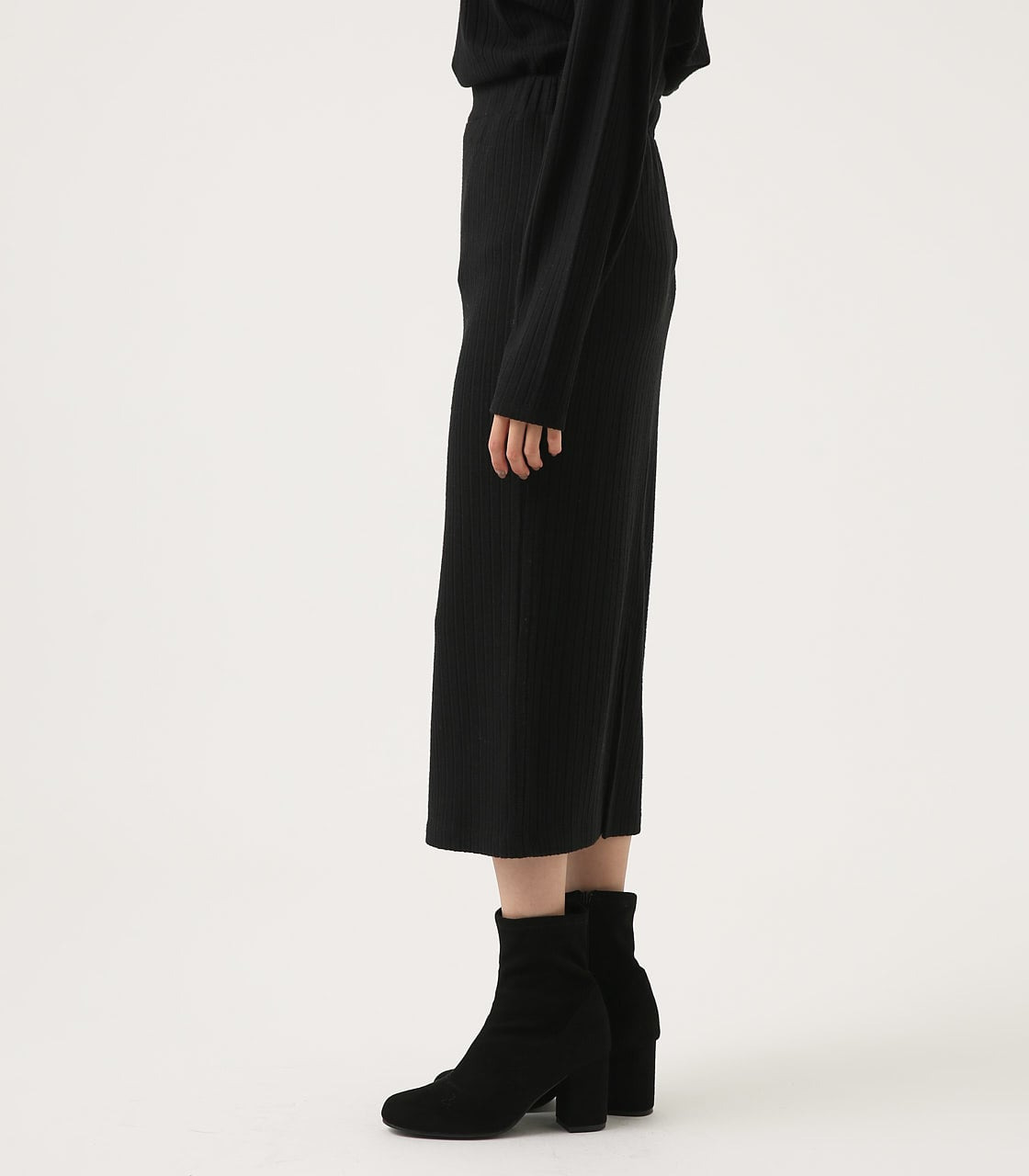 【AZUL BY MOUSSY】BLUSHED TIGHT MIDI SKIRT 詳細画像 BLK 6