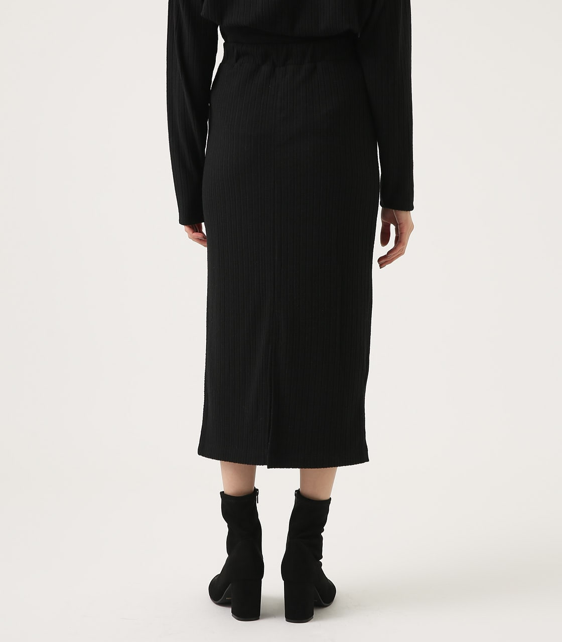【AZUL BY MOUSSY】BLUSHED TIGHT MIDI SKIRT 詳細画像 BLK 7