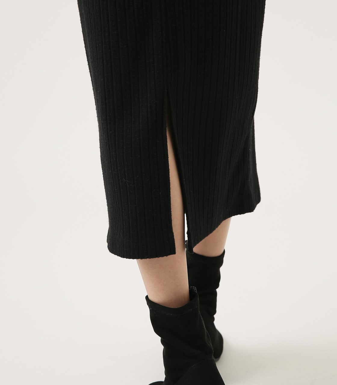 【AZUL BY MOUSSY】BLUSHED TIGHT MIDI SKIRT 詳細画像 BLK 9