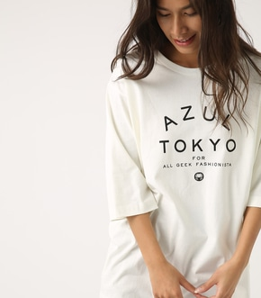 【AZUL BY MOUSSY】AZUL TOKYO アーチロゴTEE