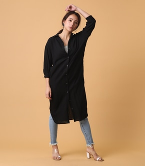 【AZUL BY MOUSSY】7分袖シャツワンピース