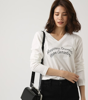 【AZUL BY MOUSSY】Happiness V ネック ロンTEE