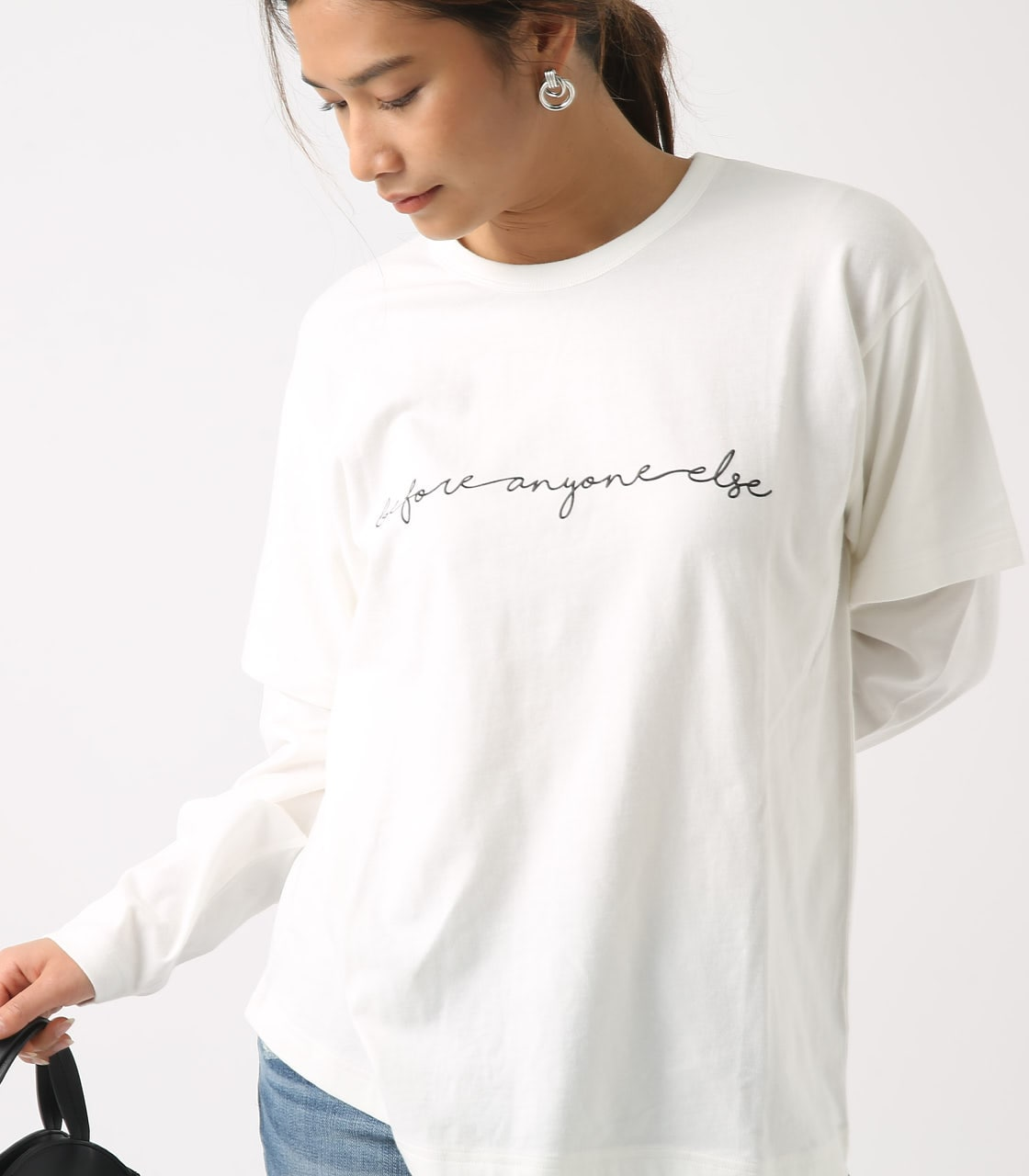 【AZUL BY MOUSSY】Before layered TEE 詳細画像 O/WHT 2