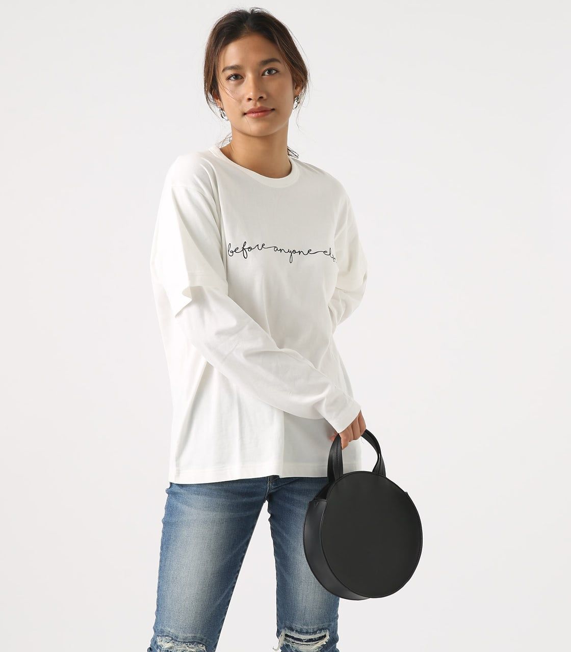 【AZUL BY MOUSSY】Before layered TEE 詳細画像 O/WHT 3