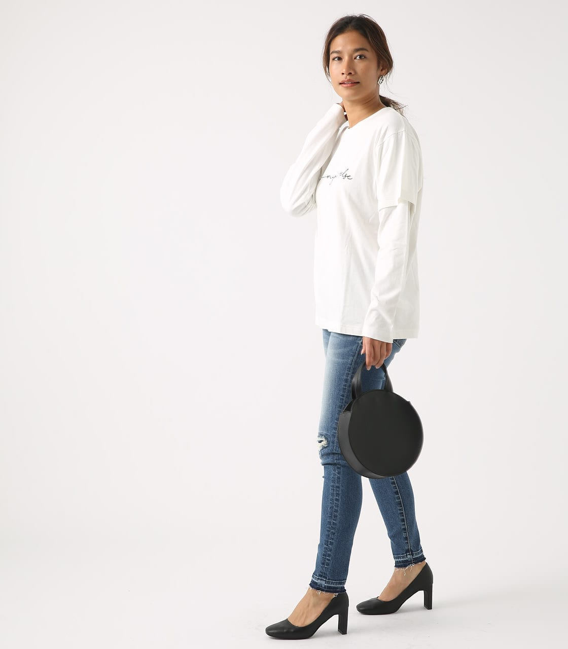 【AZUL BY MOUSSY】Before layered TEE 詳細画像 O/WHT 4