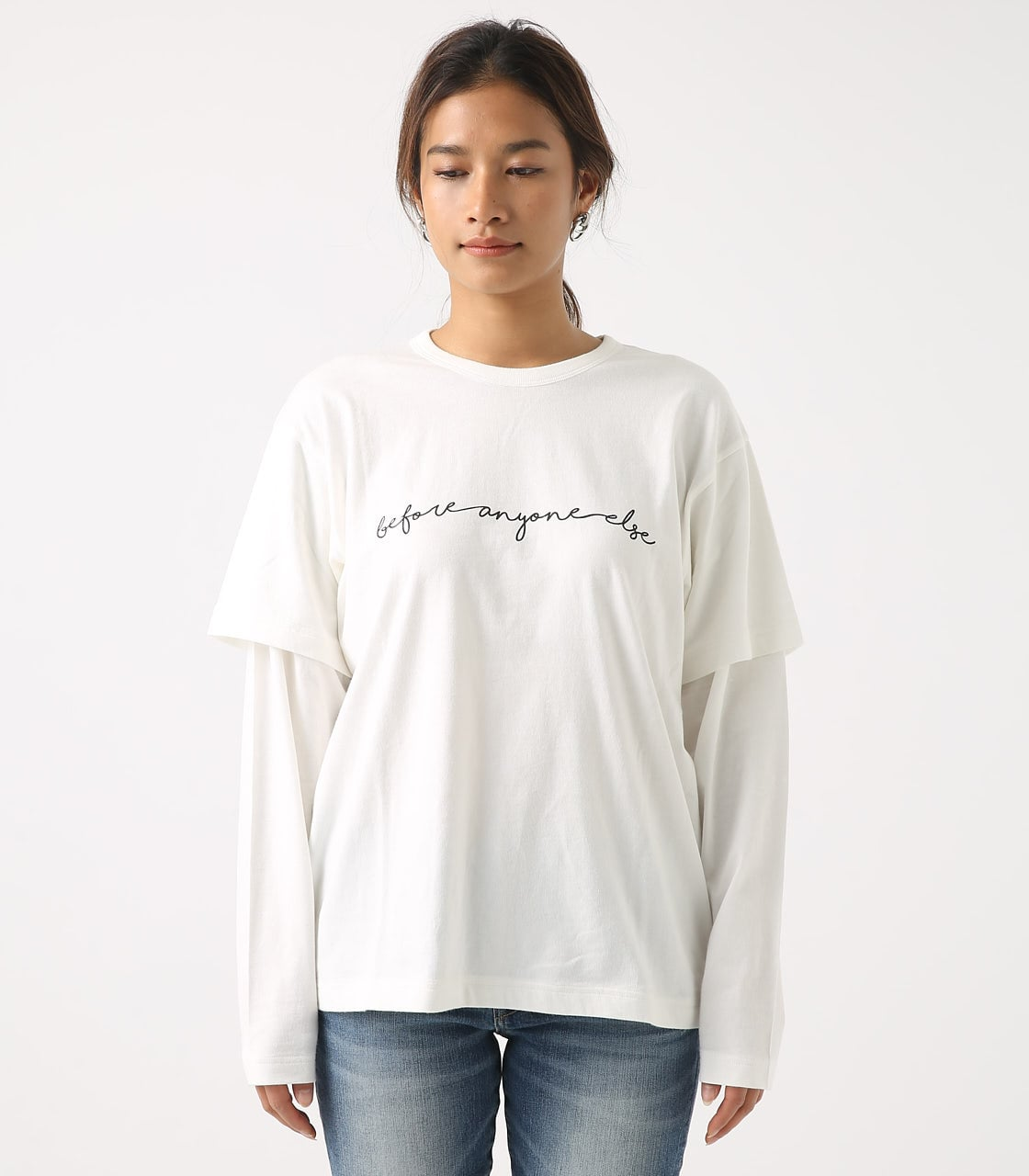【AZUL BY MOUSSY】Before layered TEE 詳細画像 O/WHT 5