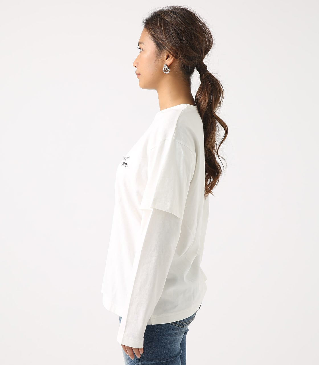 【AZUL BY MOUSSY】Before layered TEE 詳細画像 O/WHT 6
