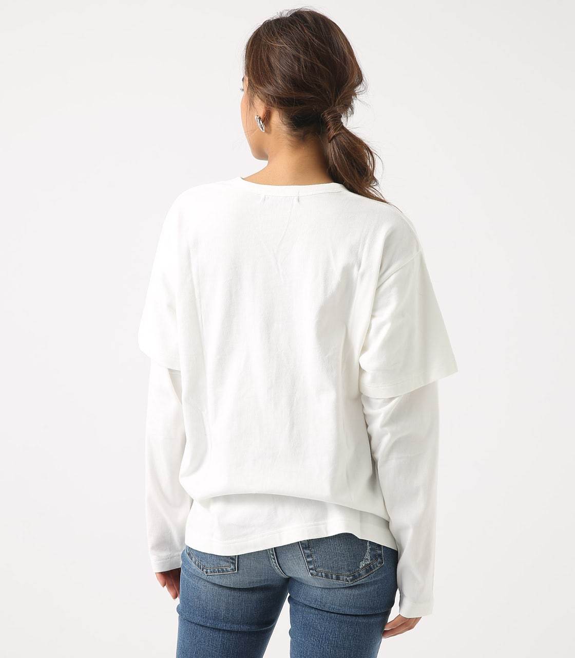 【AZUL BY MOUSSY】Before layered TEE 詳細画像 O/WHT 7