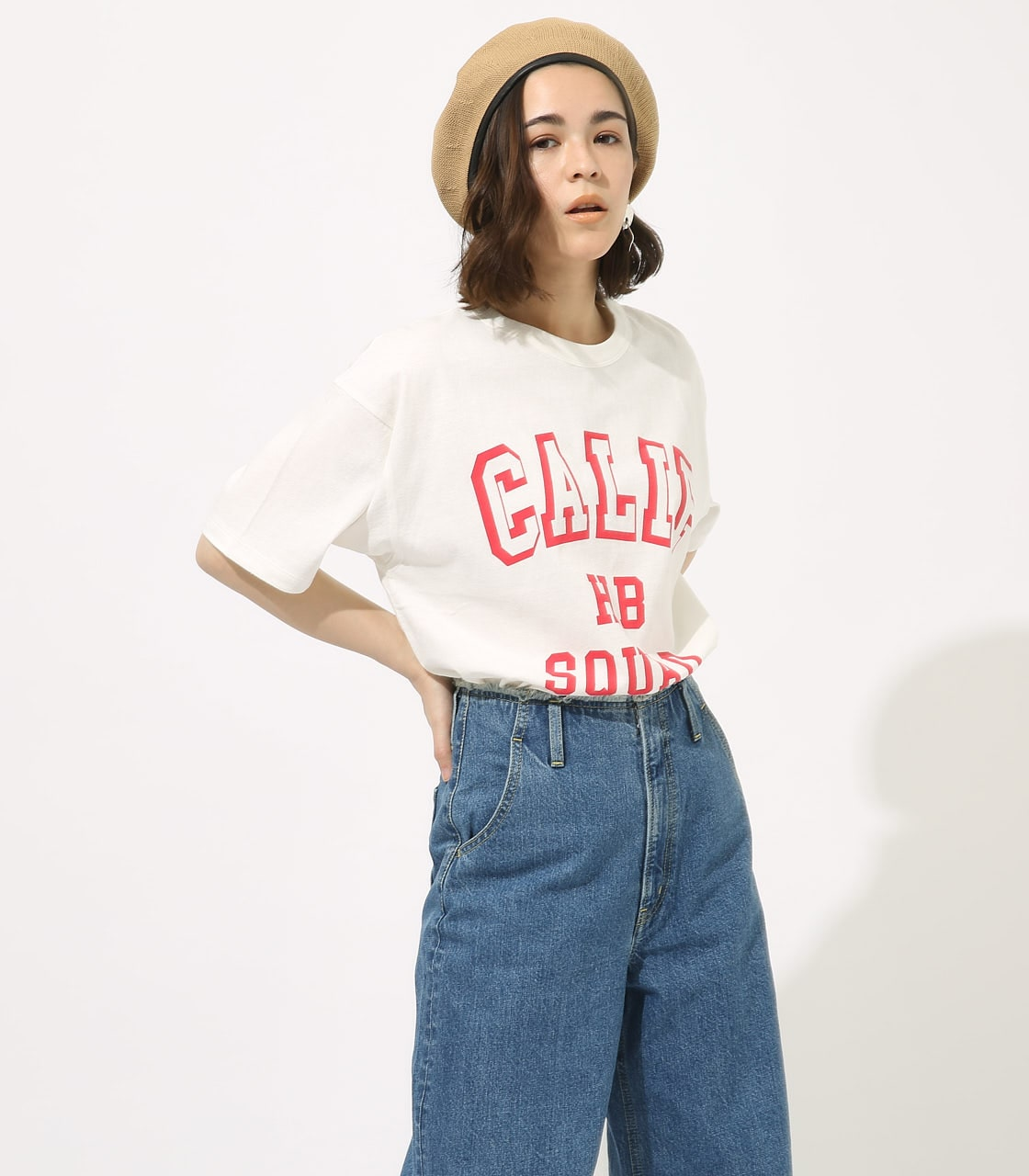 【AZUL BY MOUSSY】CALIF BIG TEE 詳細画像 WHT 1
