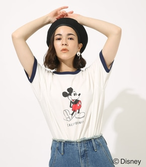 【AZUL BY MOUSSY】RINGER MICKEY TEE