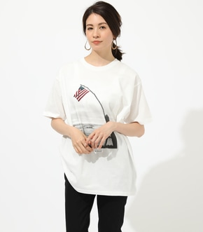 【AZUL BY MOUSSY】USA CALIF PHOTO TEE