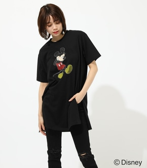【AZUL BY MOUSSY】MICKEY LONG SLIT TEE