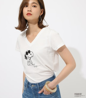 【AZUL BY MOUSSY】SNOOPY Vneck TEE
