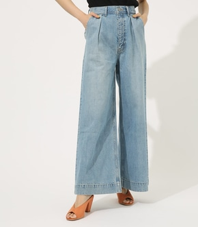 【AZUL BY MOUSSY】ONE TUCK DENIM WIDE【MOOK50掲載 90102】