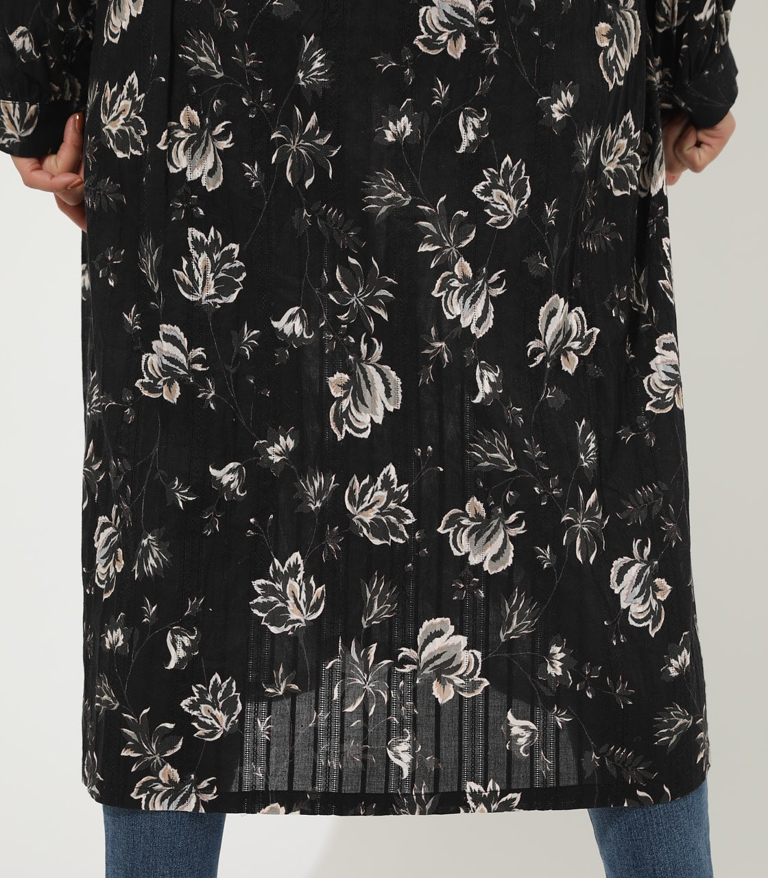 【AZUL BY MOUSSY】FLOWER GOWN 詳細画像 柄BLK 9