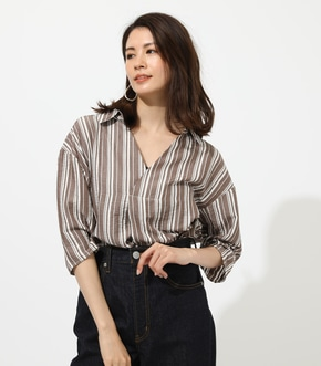 【AZUL BY MOUSSY】BASIC SKIPPER BLOUSE