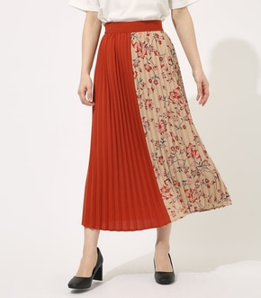 【AZUL BY MOUSSY】FLOWER PLEATS SKIRT