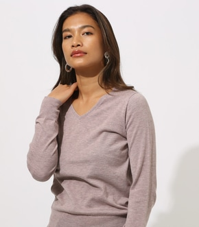 BASIC VNECK KNIT TOPS