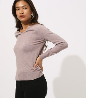 BASIC VNECK KNIT TOPS 詳細画像