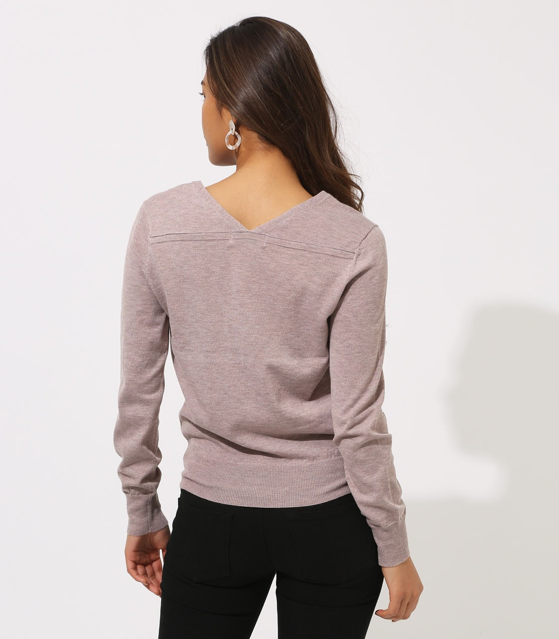 BASIC VNECK KNIT TOPS 詳細画像 BEG 7