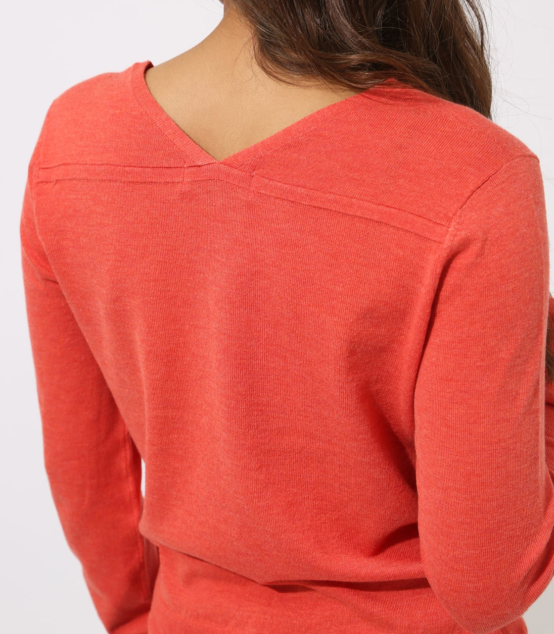 BASIC VNECK KNIT TOPS 詳細画像 L/RED 9