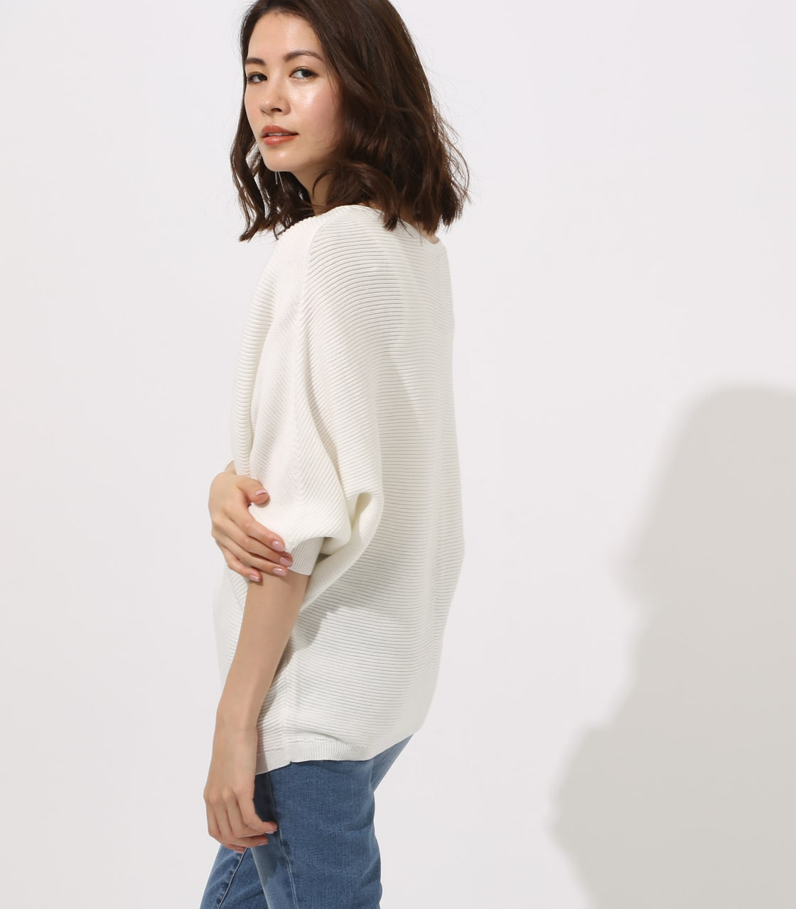 【AZUL BY MOUSSY】2WAY DOLMAN KNIT TOPS 詳細画像 O/WHT 2