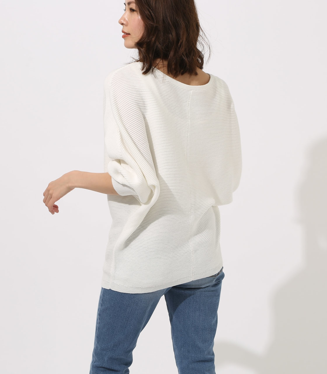 【AZUL BY MOUSSY】2WAY DOLMAN KNIT TOPS 詳細画像 O/WHT 3