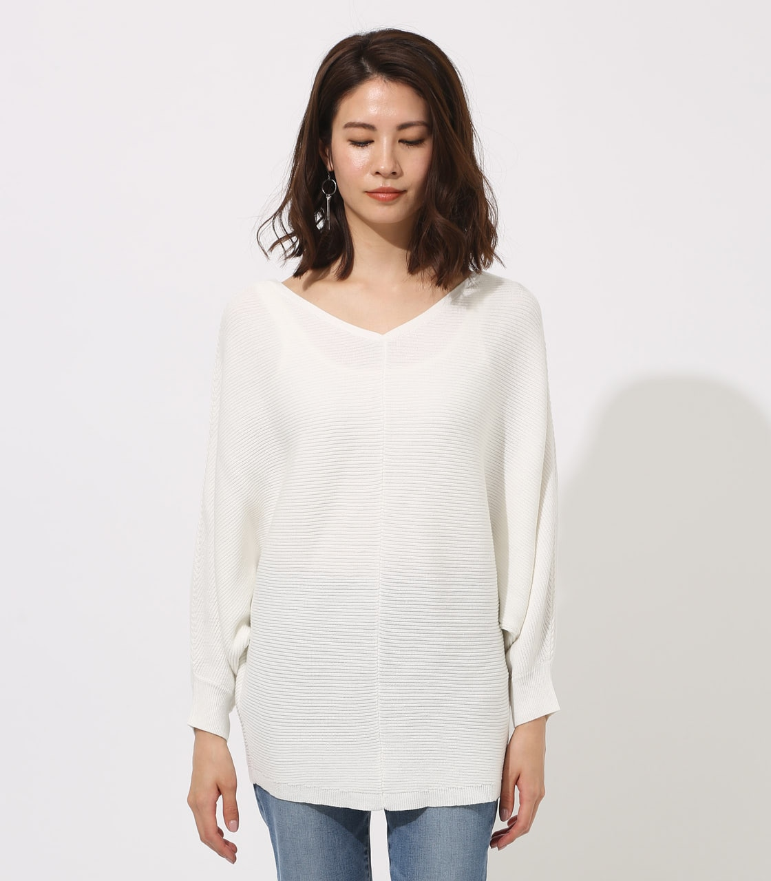 【AZUL BY MOUSSY】2WAY DOLMAN KNIT TOPS 詳細画像 O/WHT 5