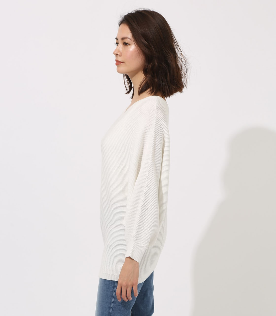 【AZUL BY MOUSSY】2WAY DOLMAN KNIT TOPS 詳細画像 O/WHT 6