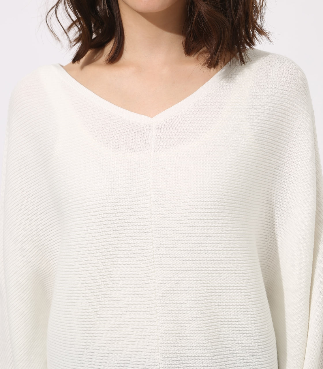 【AZUL BY MOUSSY】2WAY DOLMAN KNIT TOPS 詳細画像 O/WHT 8