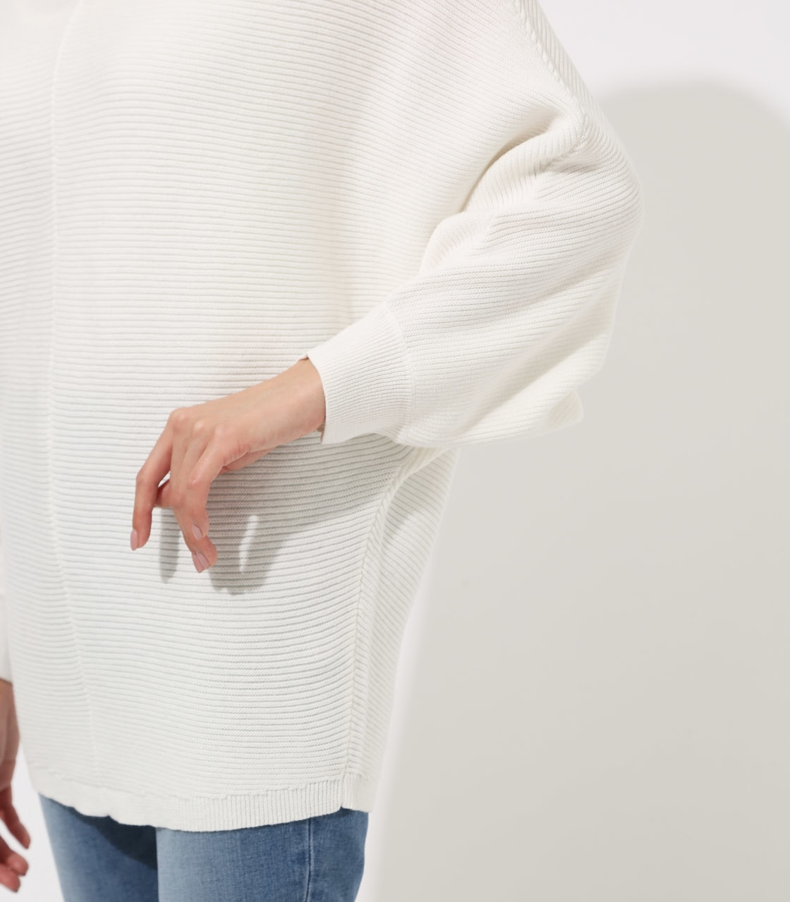 【AZUL BY MOUSSY】2WAY DOLMAN KNIT TOPS 詳細画像 O/WHT 9