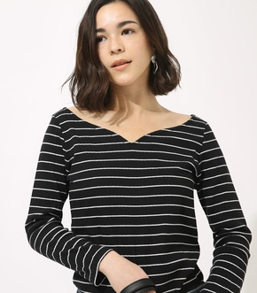 HEART NECK RIB TOPS
