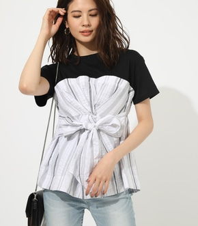 【AZUL BY MOUSSY】TWIST COMBI TOPS