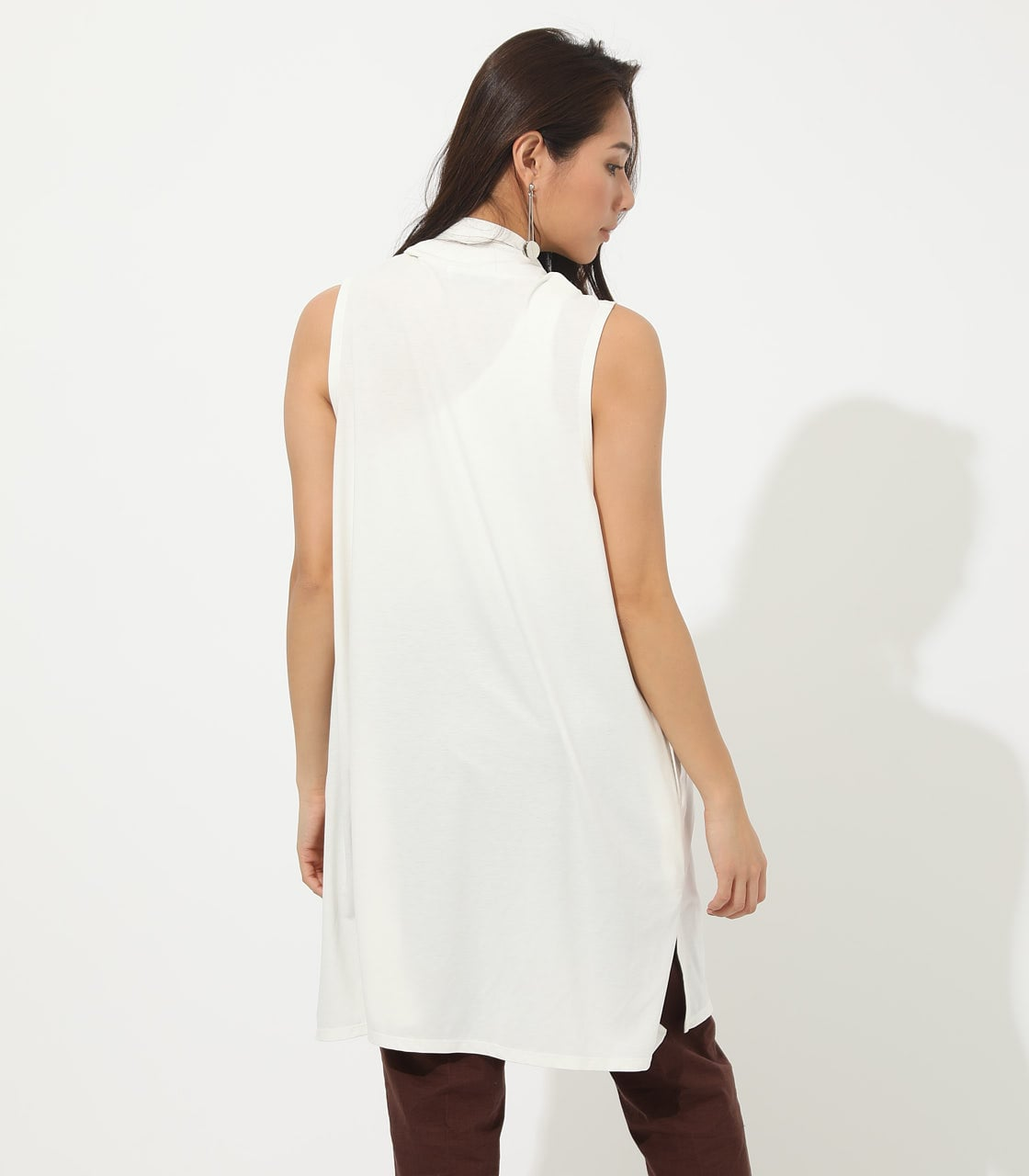 【AZUL BY MOUSSY】ICE CLEAN LONG VEST 詳細画像 O/WHT 6