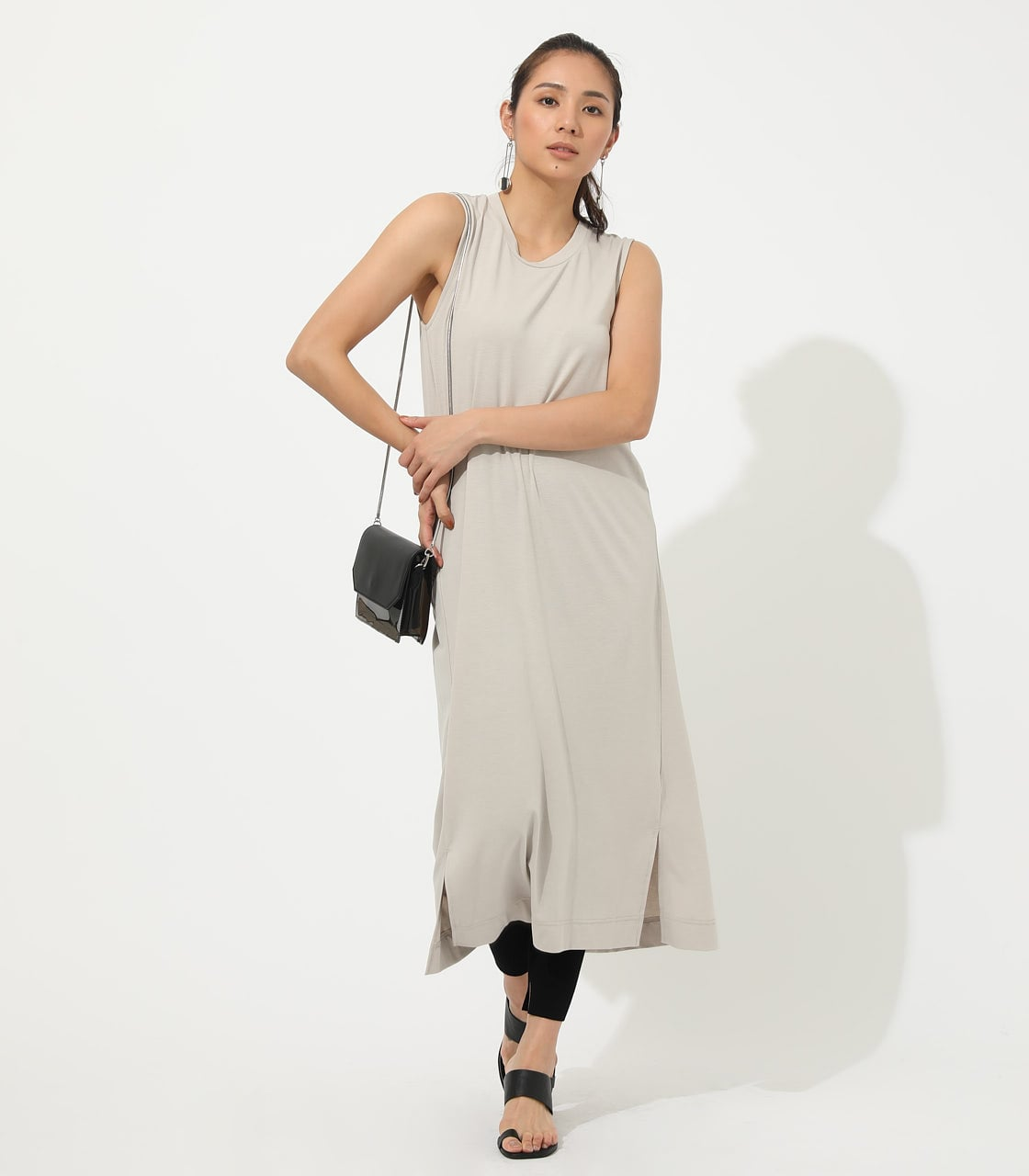 【AZUL BY MOUSSY】ICE CLEAN MAXI ONEPIECE【MOOK50掲載 90150】 詳細画像 L/BEG 1