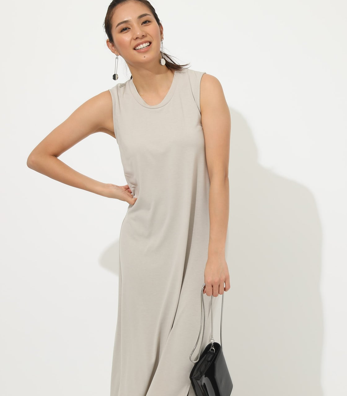 【AZUL BY MOUSSY】ICE CLEAN MAXI ONEPIECE【MOOK50掲載 90150】 詳細画像 L/BEG 3