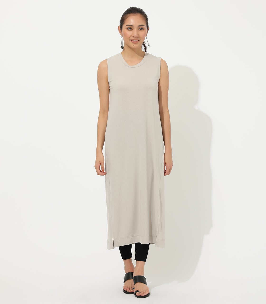 【AZUL BY MOUSSY】ICE CLEAN MAXI ONEPIECE【MOOK50掲載 90150】 詳細画像 L/BEG 4
