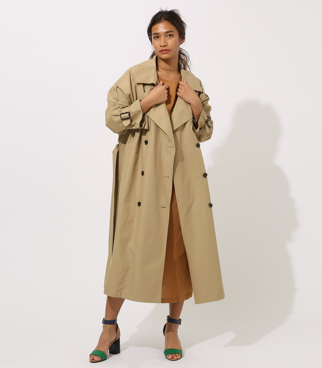 【AZUL BY MOUSSY】VOLUME TRENCH COAT 詳細画像 BEG 1