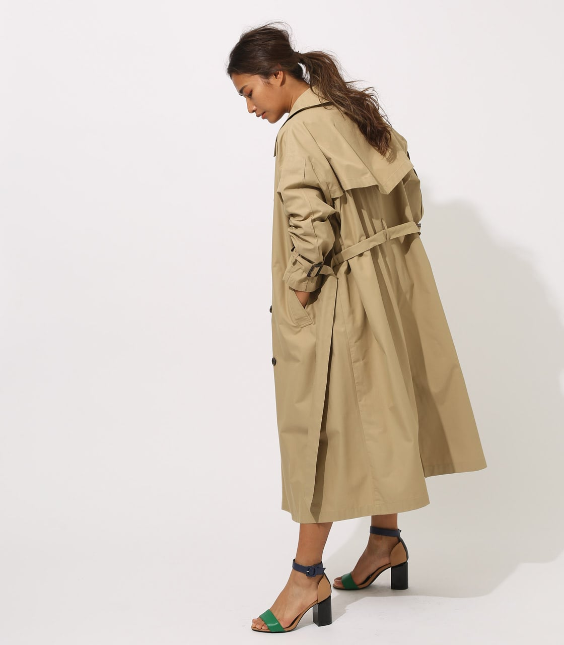 【AZUL BY MOUSSY】VOLUME TRENCH COAT 詳細画像 BEG 2