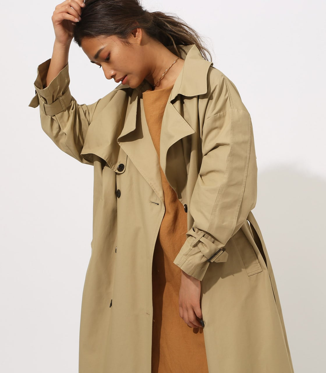 【AZUL BY MOUSSY】VOLUME TRENCH COAT 詳細画像 BEG 3