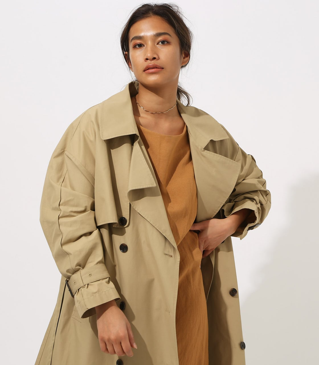 【AZUL BY MOUSSY】VOLUME TRENCH COAT 詳細画像 BEG 4