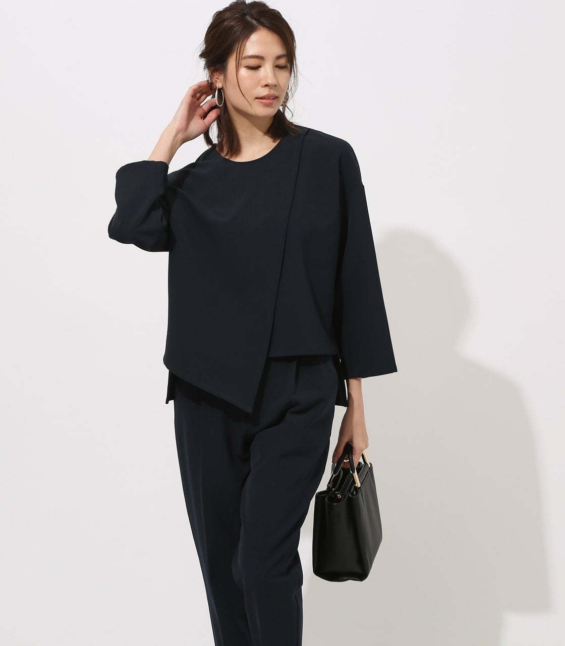 【AZUL BY MOUSSY】LAYERED IRREGULAR HEM TOPS 詳細画像 NVY 1